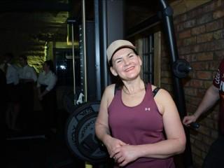 Paula Freimane atklāj fitnesa zāli Rekovā